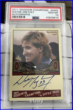2011 UD Goodwin Champions Wayne Gretzky PSA 10 GEM MINT AUTO AUTOGRAPH POP 1 SP