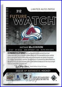2013-14 SP Authentic #312 NATHAN MacKINNON Future Watch Patch Autograph #59/100