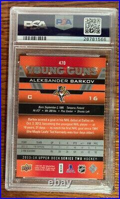2013 Upper Deck Young Guns Aleksander Barkov ROOKIE RC #470 PSA 10 GEM MINT YG