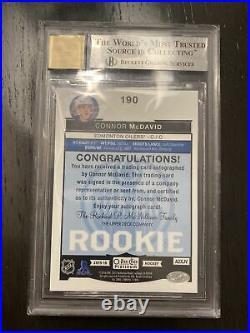 2015-16 O-pee-chee Opc Platinum #190 Connor Mcdavid Rookie Auto White Bgs 9