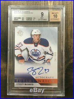 2015-16 Sp Authentic CONNOR McDAVID Future Watch auto RC Rookie /999 bgs9 bgs 9