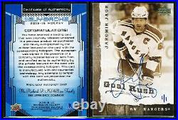 2015-16 UD BUYBACK 2006-07 UD GOLD RUSH JAROMIR JAGR AUTO 1/1 With REDEMPTION CARD