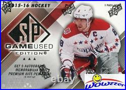 2015/16 UD SP Game Used Hockey Factory Sealed HOBBY Box-5 AUTO/MEM/HITS