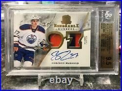 2015-16 UD The Cup, Connor McDavid Honorable #'s 3 Color RPA, Beckett 9.5 GEM