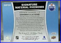 2015-16 Ultimate Collection Connor McDavid RPA 10/10 On Card Auto Rookie Auto RC