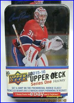 2015-16 Upper Deck Series 1 Hockey Factory-Sealed Tin, Chase CONNOR MCDAVID RC