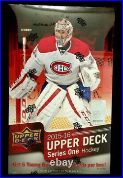 2015/16 Upper Deck Series 1 Hockey Hobby Sealed Box