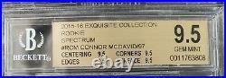 2015 2015-16 EXQUISITE CONNOR McDAVID ROOKIE SPECTRUM /97 R-CM BGS 9.5 OILERS