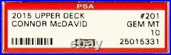 2015 Connor McDavid Upper Deck Young Guns RC Rookie #201 PSA 10 Gem Mint