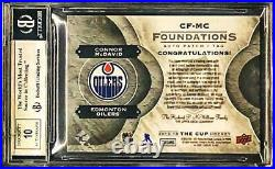 2015 UD The Cup Foundations Connor McDavid 1/1 RARE Letter Patch RPA AUTO BGS 9