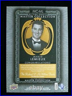2016 UD All-Time Greats Master Collection Bronze Mario Lemieux On Card Auto /20