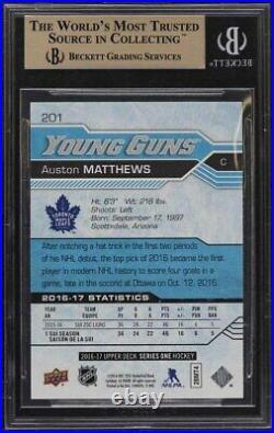 2016 UD Young Guns Auston Matthews RC #201 BGS 10 PRISTINE