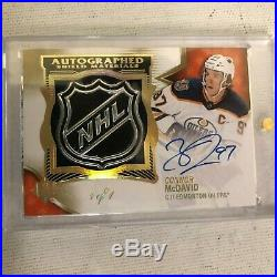 2018-19 Ultimate Collection Shield Patches Autographs Connor McDavid 1/1