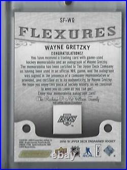 2018-19 Upper Deck Engrained Wayne Gretzky Signature Flexures Auto Stick SF-WG