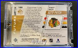 2019/20 SP Authentic Kirby Dach Future Watch Patch Auto/100 4CLR Game Used Patch
