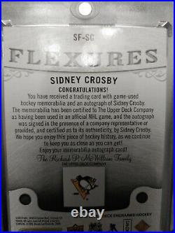 2019 20, Sidney Crosby, Ud Engrained Flexures Signature, 3 Color Stick. Auto