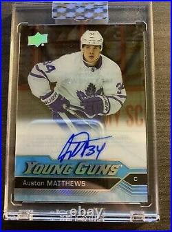 2019-20 Ud Clear Cut Auston Matthews Young Guns Auto Wow