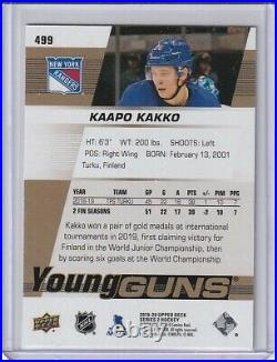 2019-20 Ud Kaapo Kakko Rc Young Guns High Gloss Parallel Ssp (#4/10)