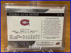 2019-20 Ud The Cup Nick Suzuki Exquisite Collection Rookie Auto Shield 1/1 Mtl