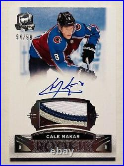 2019-20 Upper Deck The Cup Cale Makar Rookie Patch Auto /99 True RPA 4-Color SP