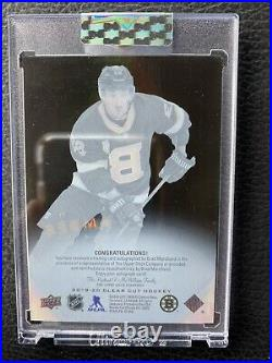 2019 Clear Cut Brad Marchand Black Amber On Card Auto