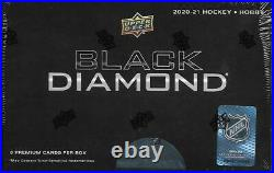 2020-21 NHL Upper Deck Black Diamond Hockey Hobby Box NEW(6 Premium Cards/Box)