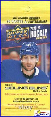 2020/21 Upper Deck Series 2 Hockey 18 Pack Factory Sealed FAT PACK Box-468 Cards