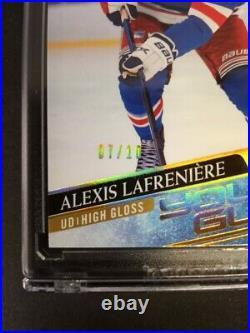 2020-21 Upper Deck Young Guns High Gloss Alexis Lafreniere 7/10