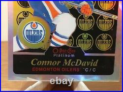 2 CARDS Connor McDavid Leon Draisaitl O-Pee-Chee Platinum Retro Rainbow RC