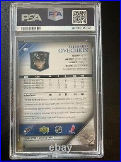 Alexander Alex Ovechkin 2005 06 UD Young Guns #443 Capitals RC rookie Mint PSA 9