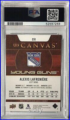 Alexis Lafreniere 2020-21 Upper Deck Series 1 Young Guns Canvas RC PSA 10