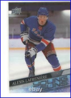 Alexis Lafreniere 2020-21 Upper Deck Young Guns Acetate Clear Cut RC Card #201