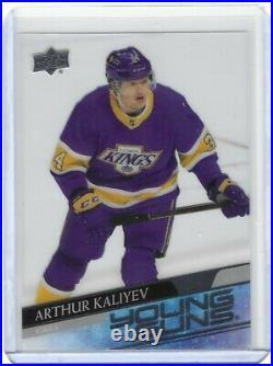 Arthur Kaliyev 2020-21 Upper Deck Extended Clear Cut Young Guns SP RC Card #701