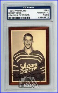 Bobby Orr 1995 Parkhurst Autographed Rookie Card #SR1 PSA/DNA /500