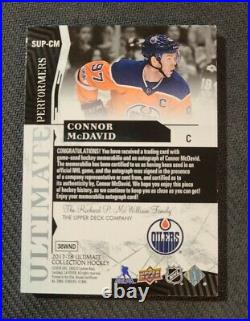 Connor McDavid 2017-18 Ultimate Collection Performers 5/5 Patch On-Card Auto