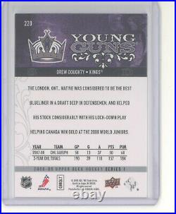 Drew Doughty card /100 2008-09 Upper Deck Young Guns UD Exclusives YG NM Kings
