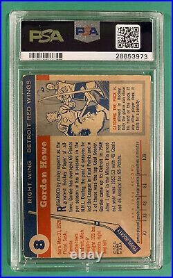 Gordie Howe Psa 3 1954 Topps Card #8
