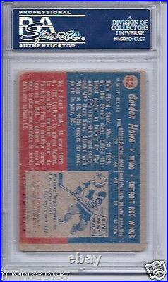 Gordie Howe autographed 1957 Topps card #42 PSA/DNA Red Wings autograph auto HOF