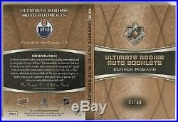 (HCW) 2015-16 UD Ultimate Collection Connor McDavid 1/49 Rookie Auto Booklet