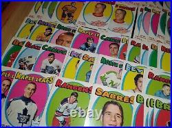 HUGE VINTAGE LOT 282 CARDS/119 OF 132/1971 72 TOPPS ORR+HOWE+HULL+list+CLARKE+