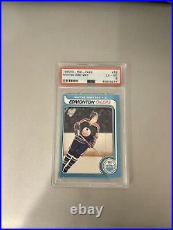 Iconic Card 1979-80 O-pee-chee Opc Psa 6 #18 Rookie Rc Wayne Gretzky Oilers
