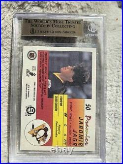 Jaromir Jagr 90-91 OPC Premier Rookie Card RC BGS Graded 10 Pristine