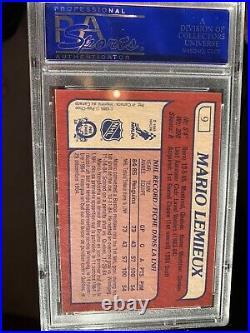 Mario Lemieux Rookie Card OPC PSA 9! Card #9