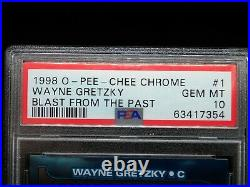 PSA 10 Wayne Gretzky Card #1 1998 O-PEE-CHEE Chrome Blast From the Past Topps