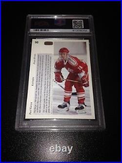 Paul Kariya Signed 1991-92 Upper Deck Czech Rookie Card 9 Auto PSA 10 #41209054