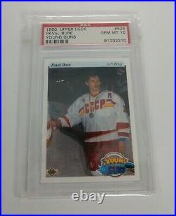 Pavel Bure PSA 10 Gem Mint Graded Rookie Card 1990-91 Upper Deck Young Guns RC