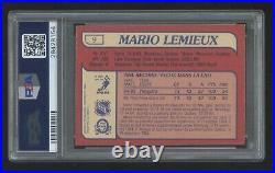 Psa 8 Mario Lemieux 1985 O-pee-chee Rookie Rc Sp #9 Beautiful All Around Hof