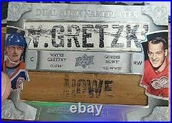 Rare! Gretzky / Howe 2019-20 Ud Engrained Dual Stick Nameplates