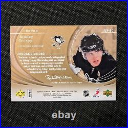 Sidney Crosby 2007/08 Upper Deck Ud Sweet Shot Signature Puck Signings Auto Rare