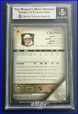 Sidney Crosby Rc 2005-06 Upper Deck Young Guns 05-06 No 201 Bgs 9 42547